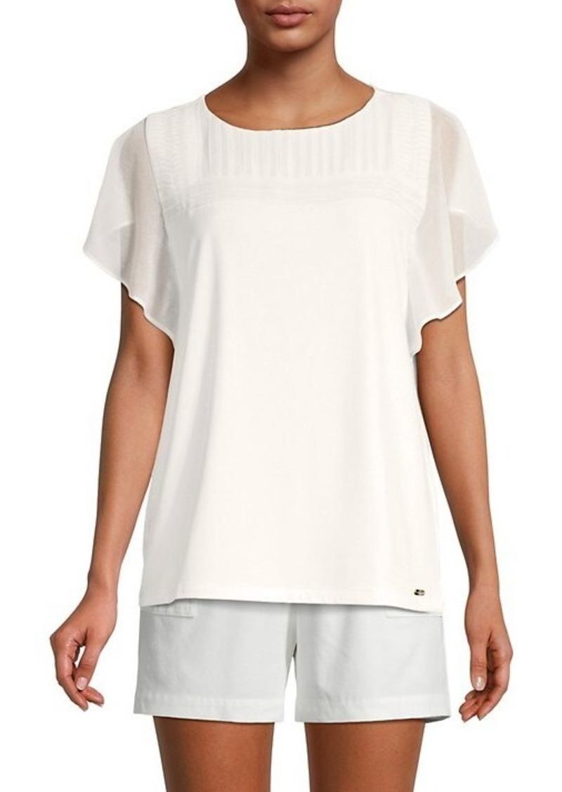 Calvin Klein Pintuck-Pleated Blouse