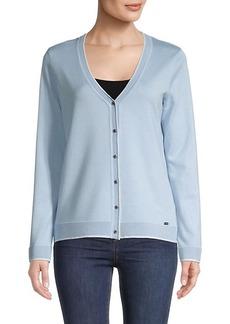 Calvin Klein Piped Cardigan Sweater