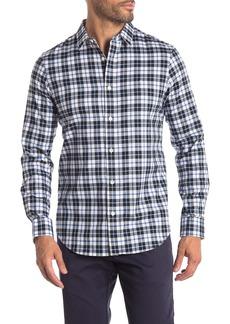Calvin Klein Plaid Brushed Twill Modern Fit Long Sleeve Shirt