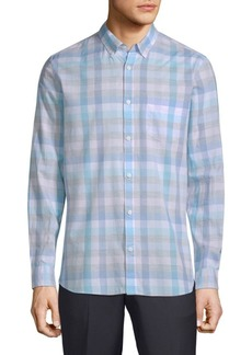 Calvin Klein Washed-Plaid Pocket Shirt