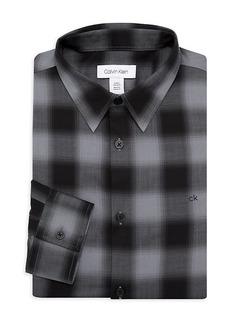 Calvin Klein Plaid Dress Shirt