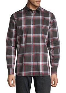 Calvin Klein Plaid Long-Sleeve Shirt