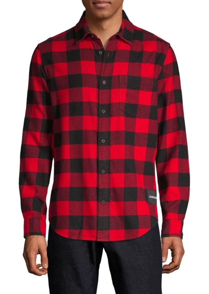 Calvin Klein Plaid-Print Long-Sleeve Shirt