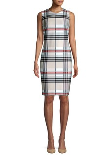 Calvin Klein Plaid Sheath Dress
