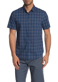Calvin Klein Plaid Short Sleeve Regular Fit Shirt