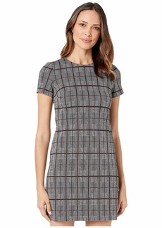 Calvin Klein Plaid Short Sleeve T-Shirt Body Dress