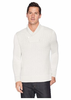 Calvin Klein Plaited Texture Shawl Neck Sweater