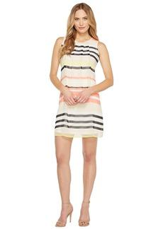 Calvin Klein Pleat Front A-Line Dress