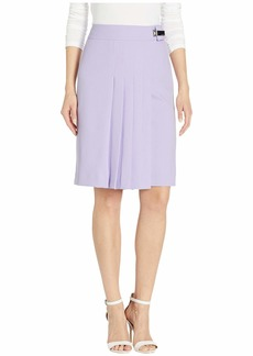 Calvin Klein Pleat Front Crepe Skirt