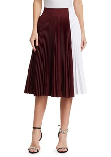 Calvin Klein Pleated Colorblock Skirt