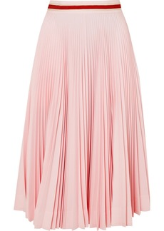 Calvin Klein Pleated Crepe Midi Skirt