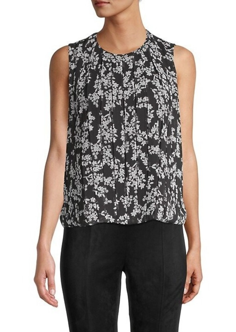 Calvin Klein Pleated Floral Tank