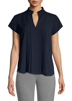 Calvin Klein Pleated-Front Top