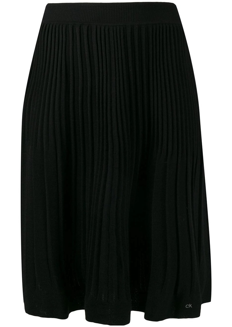 Calvin Klein pleated knit skirt