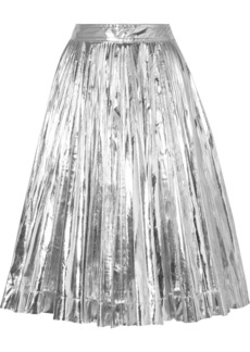 Calvin Klein Pleated Lamé Midi Skirt