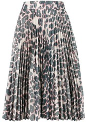 Calvin Klein pleated leopard skirt