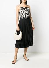 Calvin Klein pleated logo waistband skirt