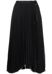 Calvin Klein pleated monogram midi skirt