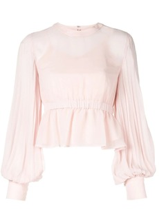 Calvin Klein pleated ruffle blouse