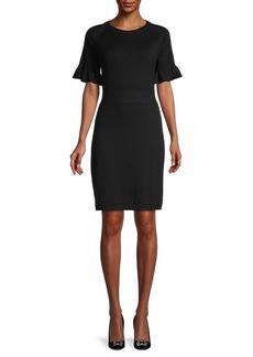 Calvin Klein Pleated Short-Sleeve Sweaterdress