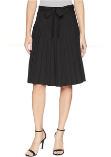 Calvin Klein Pleated Skirt with Tie Waist