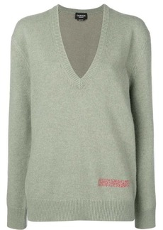 Calvin Klein plunge neck oversized sweater