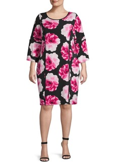 Calvin Klein Plus Floral Shift Dress