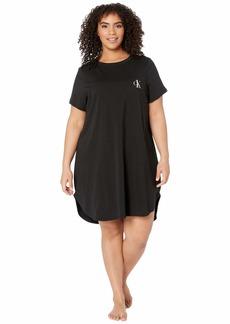 Calvin Klein Plus Size One Basic Lounge Jersey (Full Figure) Short Sleeve Nightshirt