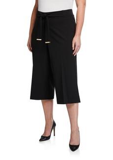 Calvin Klein Plus Size Tie-Waist Culottes
