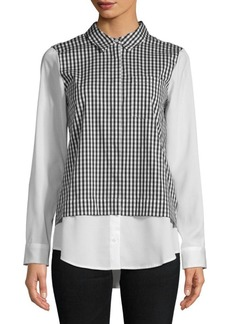 Calvin Klein Pointed Gingham Button-Down Shirt