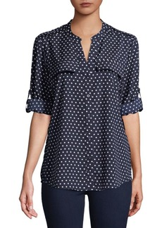 Calvin Klein Polka Dot Button-Down Shirt