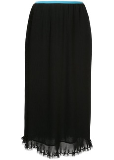 Calvin Klein Poly pleated skirt