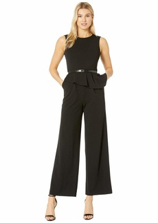 Calvin Klein Popover Jumpsuit with CK Logo Belt