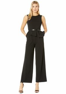 Calvin Klein Popover Jumpsuit with CK Logo Belt
