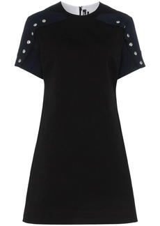 Calvin Klein popper sleeve cotton dress