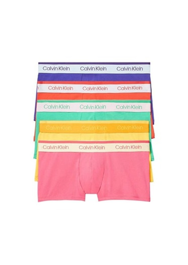 Calvin Klein Pride Edit Cotton Stretch Multipack Low Rise Trunks