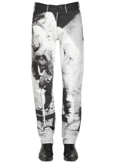 Calvin Klein Print Moon Landing Straight Cotton Jeans