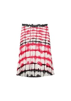Calvin Klein Print Pleated Pull-On Skirt