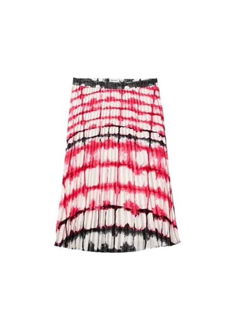 Calvin Klein Print Pleated Pull-On Skirt