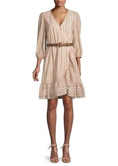 Calvin Klein Print Surplice Dress