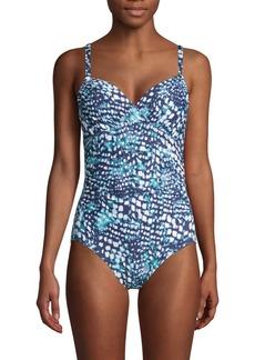 Calvin Klein Printed 1-Piece Swimsuit