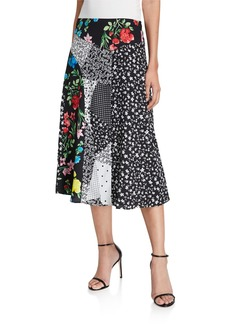 Calvin Klein Printed Angle Hem Skirt