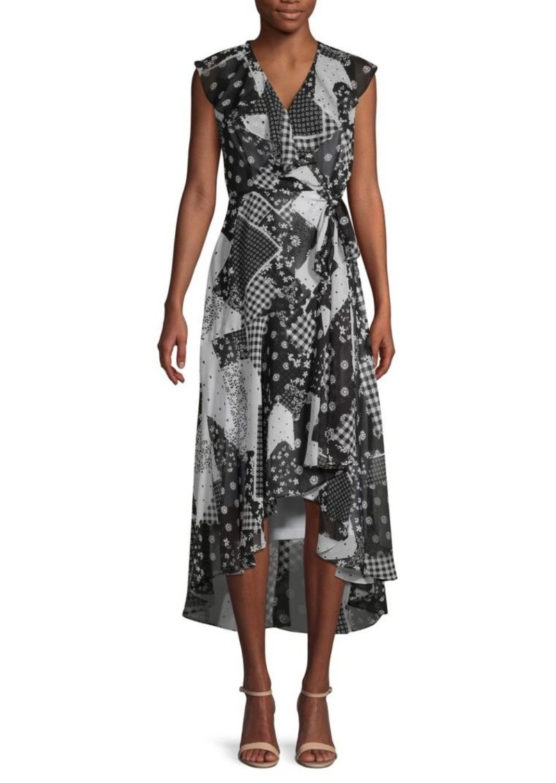 Calvin Klein Printed Chiffon Dress