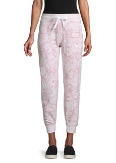 Calvin Klein Printed Cotton-Blend Drawstring Jogger Pants