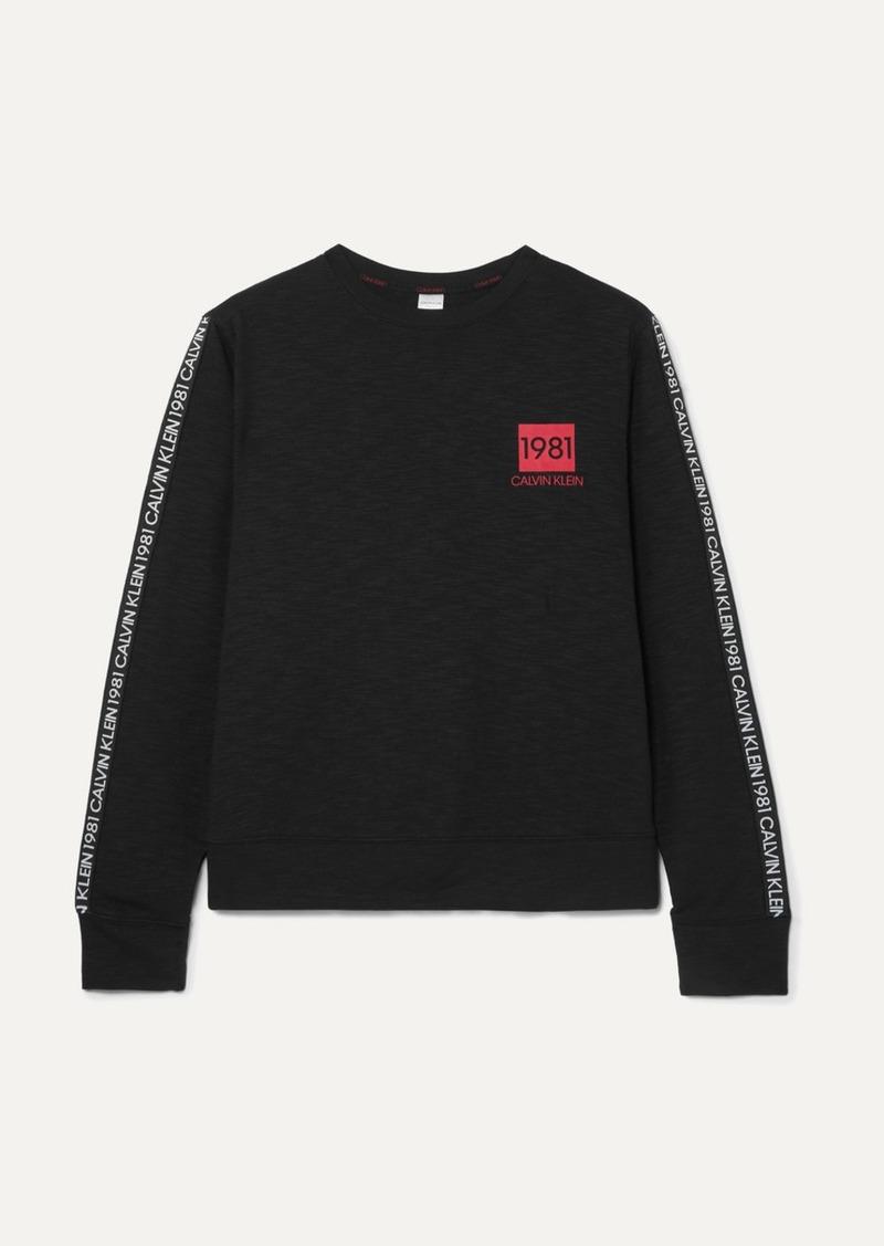 Calvin Klein Printed Cotton-blend Jersey Sweatshirt