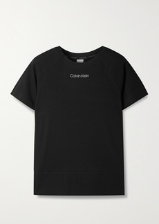 Calvin Klein Printed Cotton-blend Jersey T-shirt