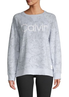 Calvin Klein Printed Cotton-Blend Sweatshirt