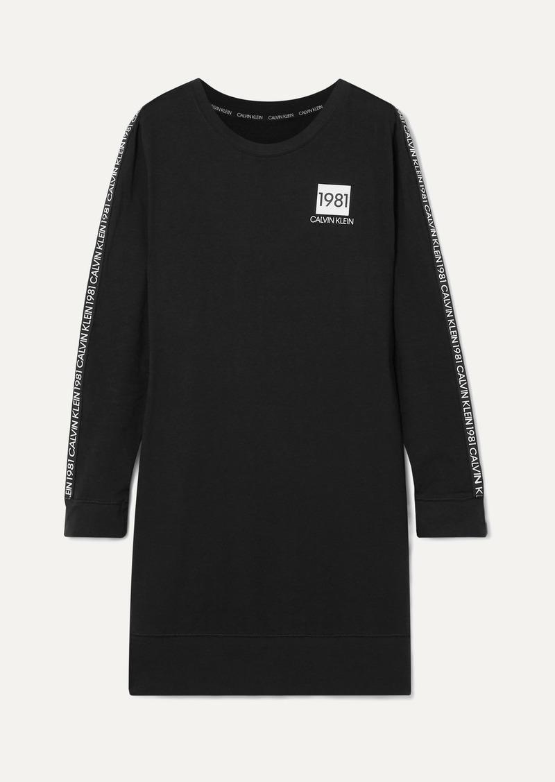 Calvin Klein Printed Cotton-jersey Nightdress
