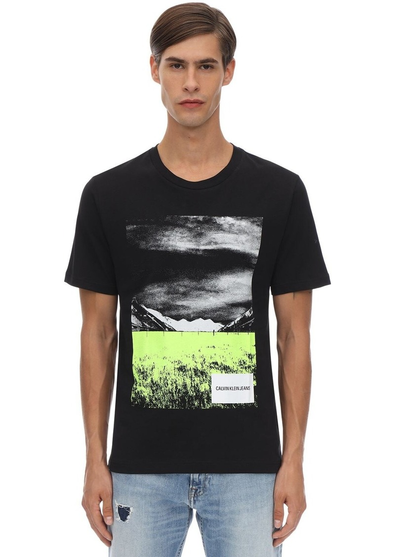 Calvin Klein Printed Cotton Jersey T-shirt