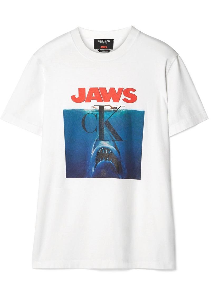 Calvin Klein Printed Cotton-jersey T-shirt